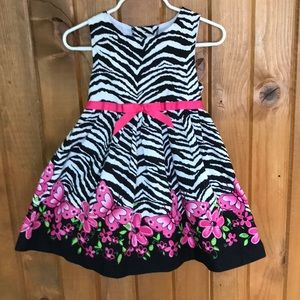 Zebra Print Party Dress Size 3T